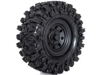 HobbyTech Crawler Reifen Climber 121/45 + Felge schwarz